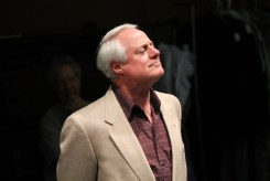 """Peter A. Jacobs as Leonato in rehearsal for """"Much Ado About Nothing."""""""