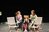 """Brenda Joyner as Hero, Jennifer Lee Taylor as Beatrice, and Zandi Carlson as Ursula in rehearsal for """"Much Ado About Nothing."""""""