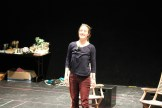 """Jennifer Lee Taylor as Beatrice in rehearsal for """"Much Ado About Nothing."""""""