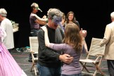 "The cast in rehearsal for ""Much Ado About Nothing."""