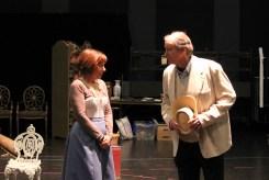 Kate Wisniewski as Miss Prism and Charles Leggett as Rev. Chasuble.