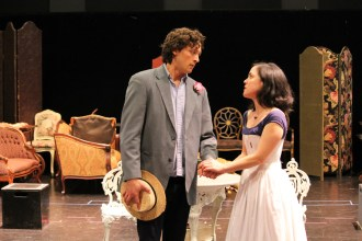 Quinn Franzen as Algernon and Hana Lass as Cecily.