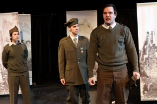 Carolyn Marie Monroe, Damian Peterson, and Patrick Allcorn in Macbeth
