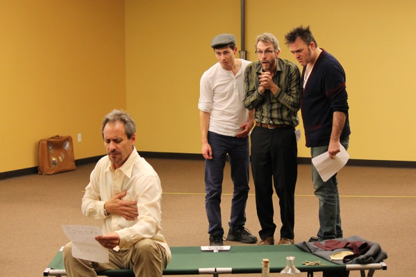 David Quicksall as Malvolio, Conner Neddersen as Feste, George Mount as Sir Andrew, and Mike Dooly as Sir Toby.