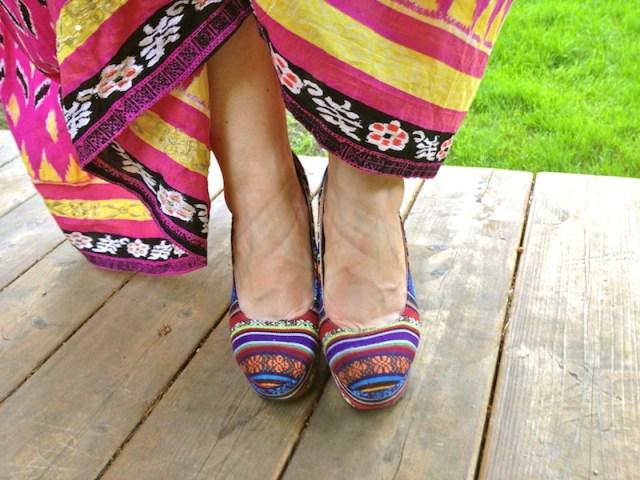 bohemian chic platform sandals