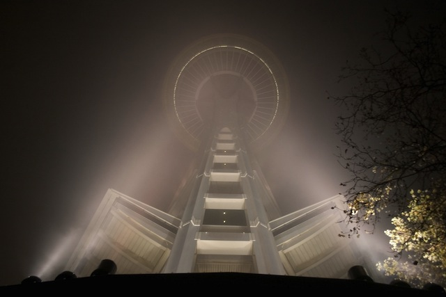 needle through the fog (photo by Chris Blakeley)