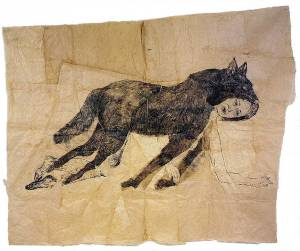 Kiki Smith, Wearing the Skin, 2001