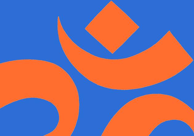 orange blue om