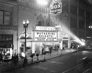 The Music Box by night.