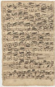 Prelude No. 1 in f, composer's manuscript.