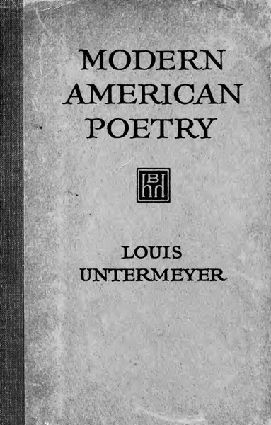 Weekly E-book: Modern American Poetry; An Introduction