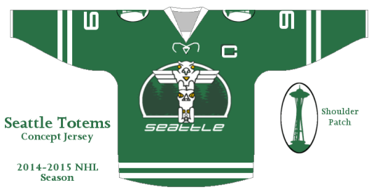 Concept drawing for future Seattle NHL team. Courtesy of Dan Ryan.