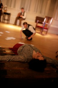 Samantha Roush blocks the future as Joseph Lavy sifts through the past. Photo by Annie Paladino.