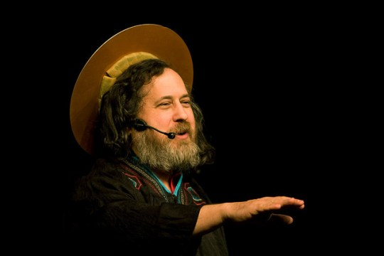 Richard Stallman as St. IGNUtius. Photo by Friprog.Licensed CC-BY-SA.