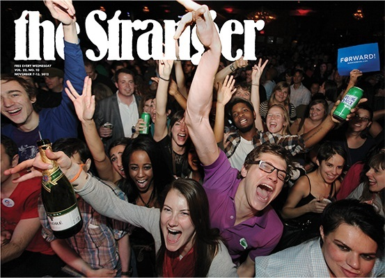 The Stranger in happier times, circa November 2012. Courtesy of The Stranger.