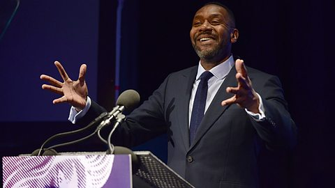 Lenny Henry at the 2014 Audio Drama Awards. Photo courtesy BBC.