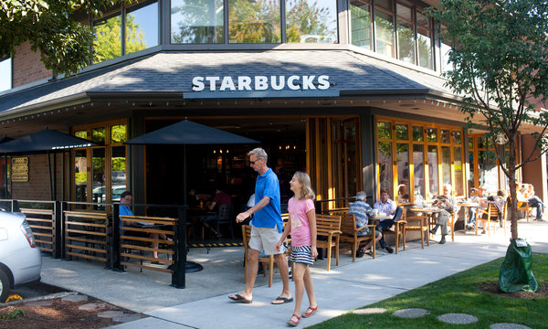 This Starbucks branch, in Madison Park, was one of many places where successful discussions about race took place, according to the company. (Source: UPI)