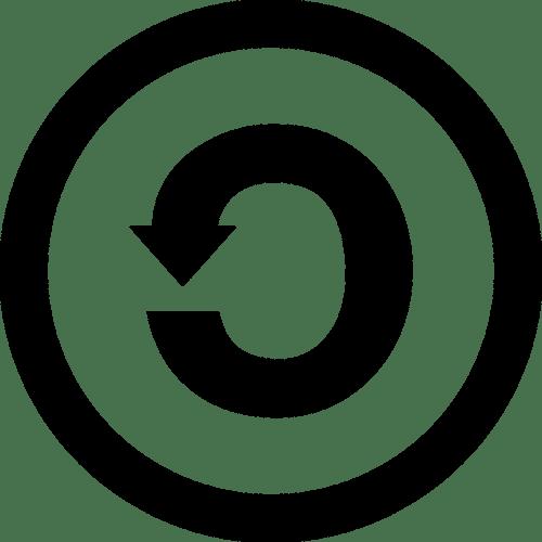 The Creative Commons ShareAlike symbol.