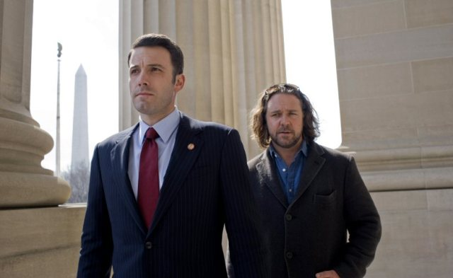 Ben Affleck and Russell Crowe do stuff in the feature film adaptation of the BBC series State of Play.
