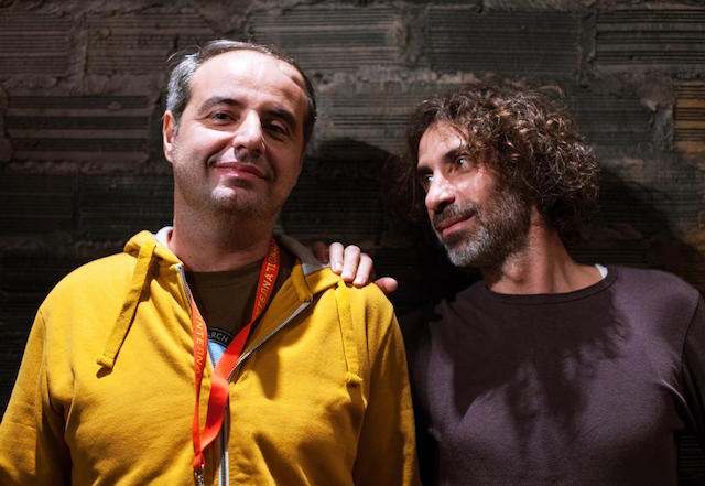 Yasser and Rabih Mroué. Photo by Mathilde Delahaye.