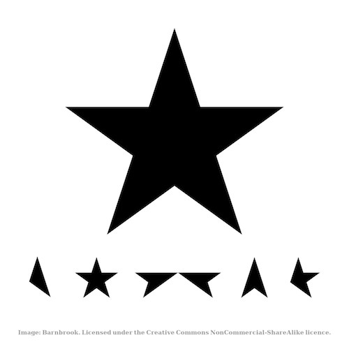 Blackstar by Barnbrook, CC BY-NC-SA 4.0.