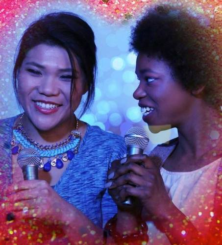Julie Hoang and Kamaria Hallums-Harris are Addison and Ariel in Seth Tankus' EAT CAKE.