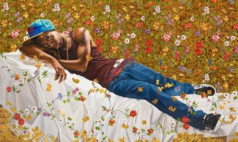 "Kehinde Wiley's ""Morpheus"", image courtesy of the Seattle Art Museum"