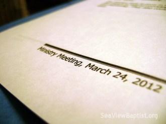 SVBC Ministry Mtg Mar 2012
