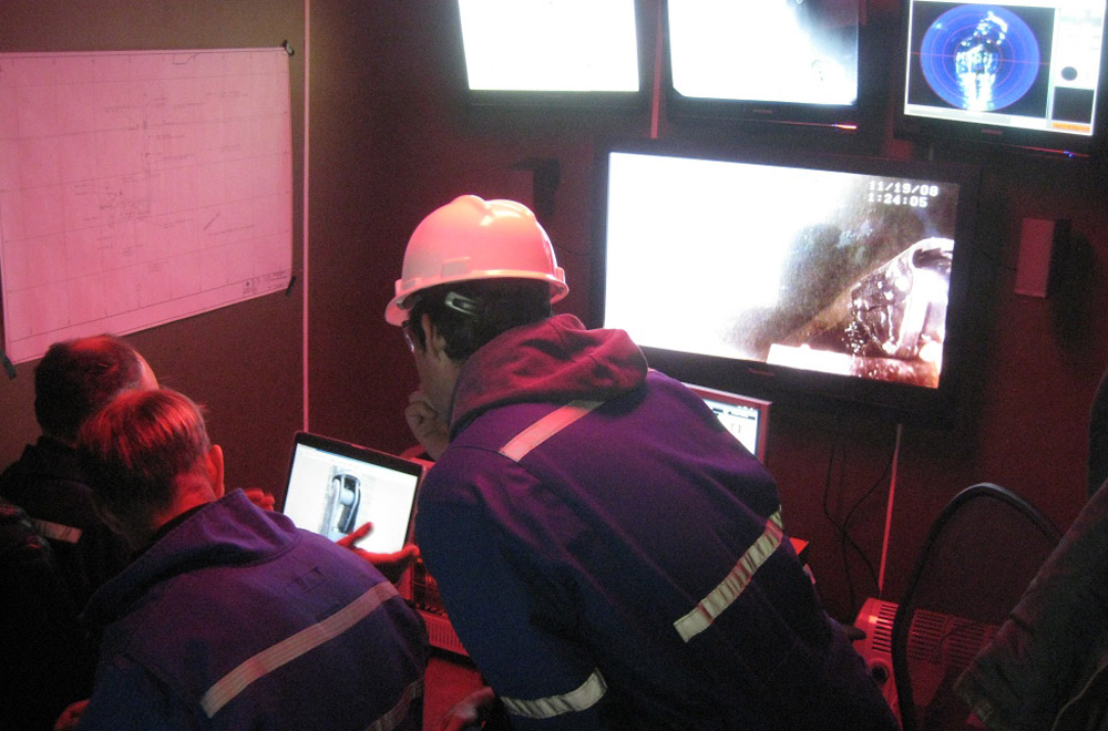 SeaView Systems' ROV control center is shown within our custom control container.