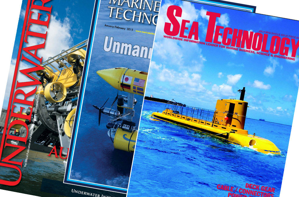 Several subsea industry magazines are shown, highlighting SeaView Systems in the media.