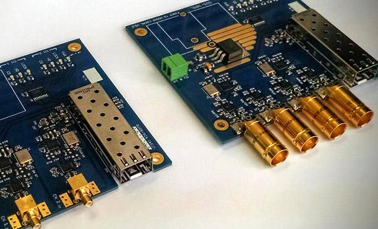 Two SVS-309 HD-SDI Video Media Converter boards are shown.
