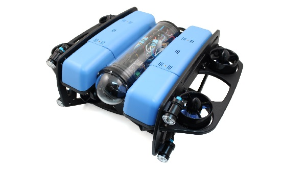SeaView Systems' Blue Robotics BlueROV2 underwater robotic remote operated vehicle (ROV) with the heavy configuration kit is shown.