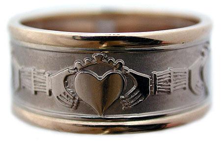 Custom Claddagh Wedding Band Rings