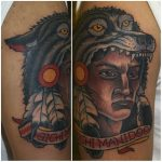 Native warrior tattoo