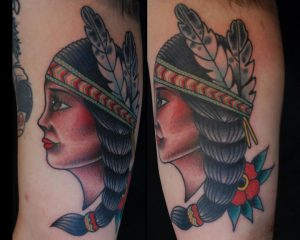 Native Woman Tattoo