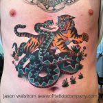 Sailor Jerry's Tiger vs Snake Tattoo