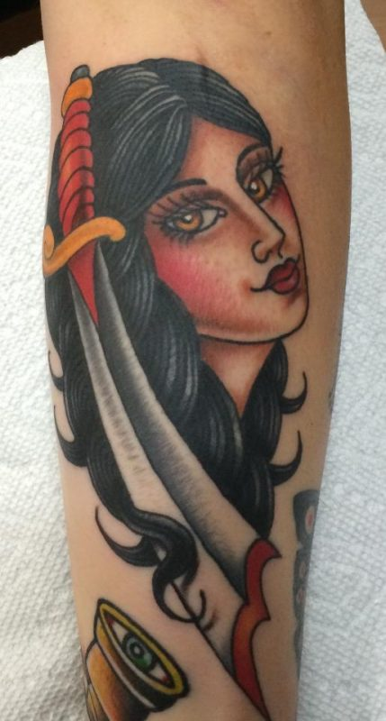 lady dagger tattoo