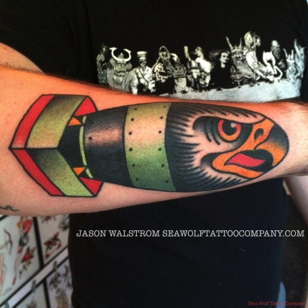 Hawk Bomb Tattoo