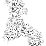 Neukölln - Wordcloud Polizeimeldungen