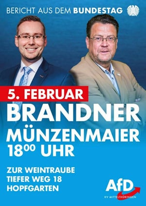 Brander & Münzenmaier - Bericht aus dem Bundestag - Brander & Münzenmaier