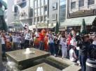 Feiernde Madrilenen