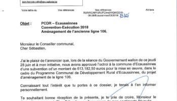 Ecaussinnes Labellisée Maya 3 Abeilles Par Le Ministre René