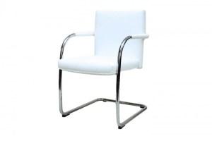 Vitra VisaSoft Freischwinger Leder / Weiß   Besucherstühle ...
