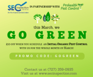 Go Green SEC Inspections March 2019 Promo