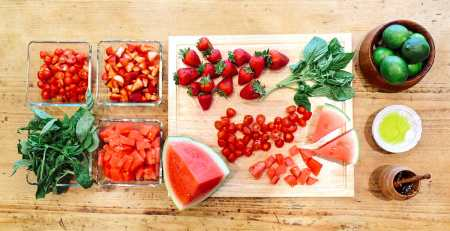 Watermelon Salad Recipe with Citrus Basil Dressing