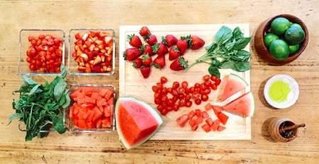 Watermelon Salad Recipe with Citrus Basil Dressing