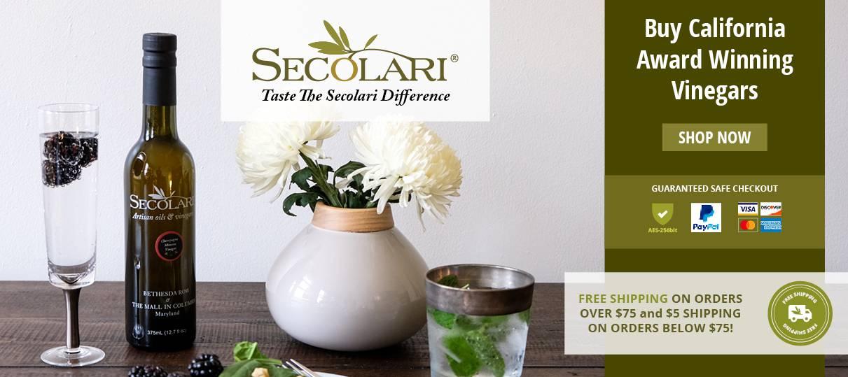Artisan Olive Oils & Vinegar, Balsamic, Gourmet & Seasonings   Secolari®