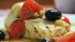 Tilapia with Roasted Tomatoes-Black Olives