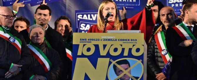 La Meloni attacca Renzi: «Non è un leader, è un burattino dei poteri forti»