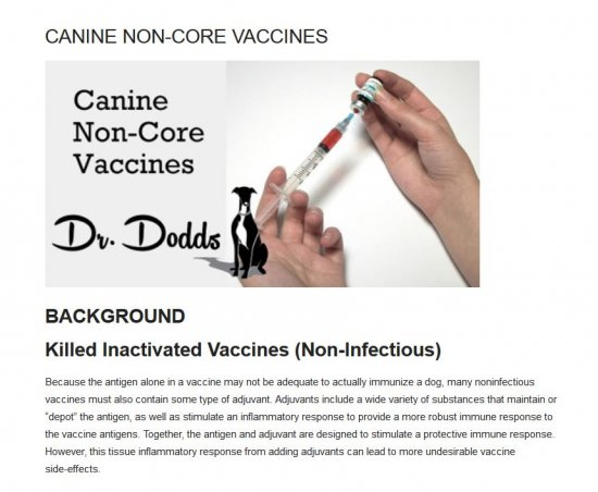Dr. Dodds Canine Non-Core Vaccines